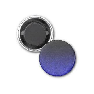 Falln Blue & Black Glitter Gradient 1 Inch Round Magnet