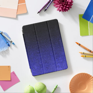 Falln Blue & Black Glitter Gradient iPad Air Cover