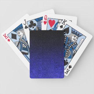 Falln Blue & Black Glitter Gradient Poker Deck
