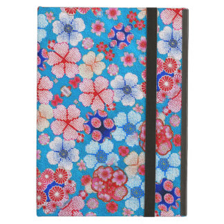 Falln Blue Cascading Floral Chirimen iPad Air Covers