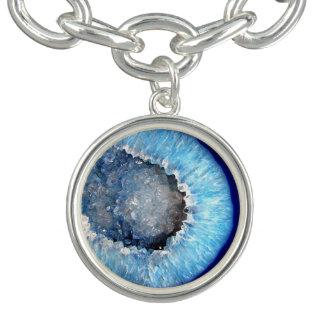 Falln Blue Crystal Geode Bracelets