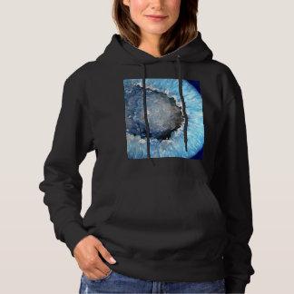 Falln Blue Crystal Geode Hoodie