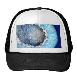 Falln Blue Crystal Geode Trucker Hat