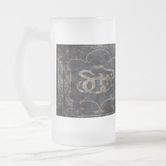 Falln Book of Sin Frosted Glass Beer Mug