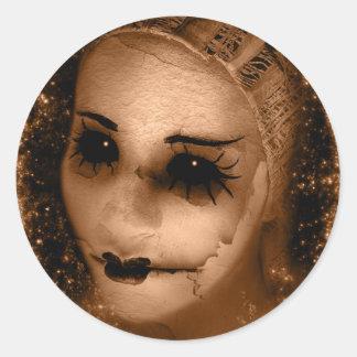 Falln Broken Pierrot Round Sticker