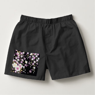 Falln Cascading Pink Flowers Boxers