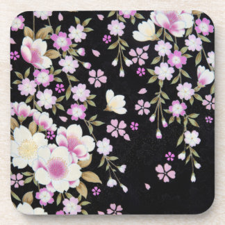Falln Cascading Pink Flowers Coaster