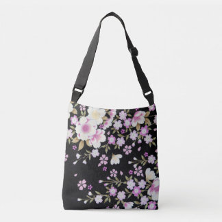 Falln Cascading Pink Flowers Crossbody Bag