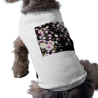Falln Cascading Pink Flowers Dog Clothes