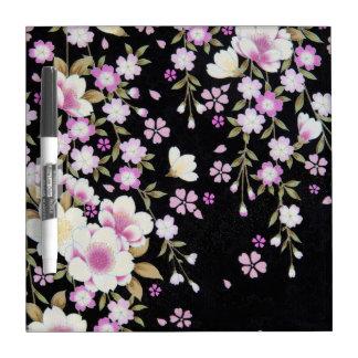 Falln Cascading Pink Flowers Dry Erase Whiteboard