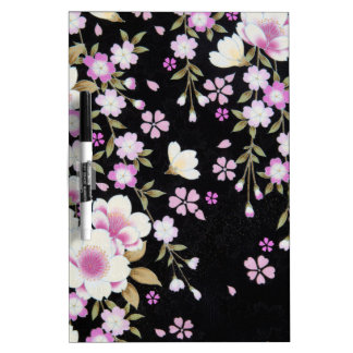 Falln Cascading Pink Flowers Dry Erase Whiteboards