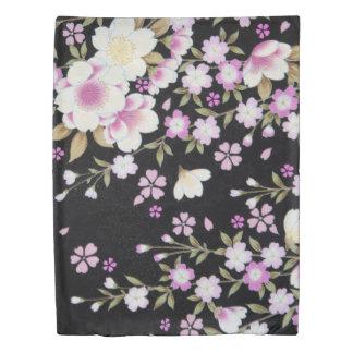 Falln Cascading Pink Flowers Duvet Cover