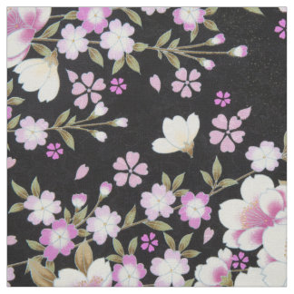 Falln Cascading Pink Flowers Fabric
