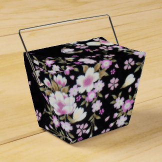 Falln Cascading Pink Flowers Favor Box