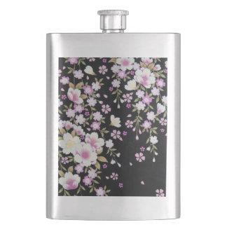 Falln Cascading Pink Flowers Flasks