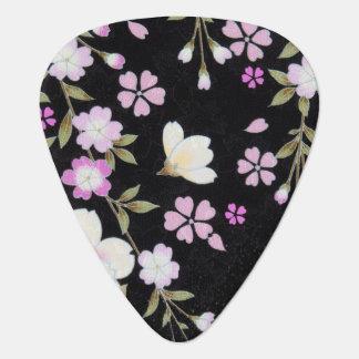 Falln Cascading Pink Flowers Guitar Pick