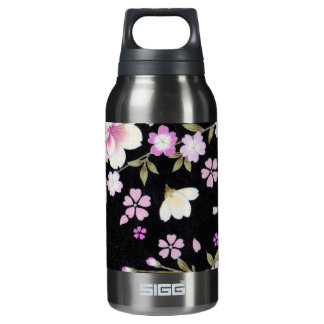 Falln Cascading Pink Flowers Insulated Water Bottle