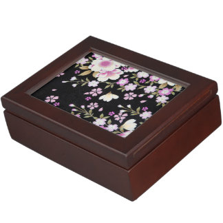 Falln Cascading Pink Flowers Keepsake Box