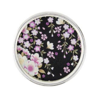 Falln Cascading Pink Flowers Lapel Pin