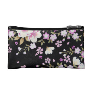 Falln Cascading Pink Flowers Makeup Bags