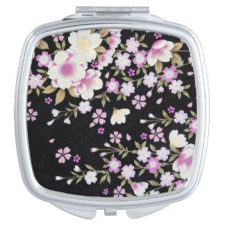 Falln Cascading Pink Flowers Makeup Mirrors