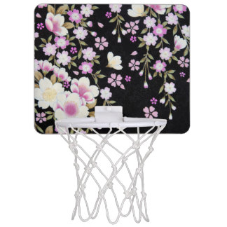 Falln Cascading Pink Flowers Mini Basketball Hoop