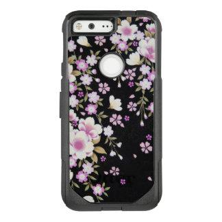Falln Cascading Pink Flowers OtterBox Commuter Google Pixel Case