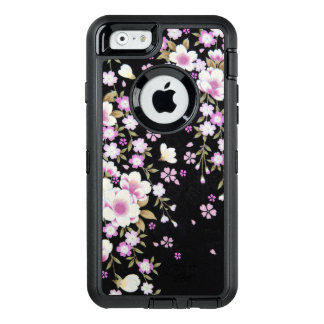Falln Cascading Pink Flowers OtterBox Defender iPhone Case