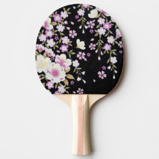 Falln Cascading Pink Flowers Ping Pong Paddle