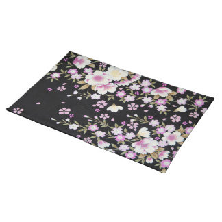 Falln Cascading Pink Flowers Placemat