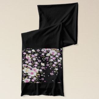 Falln Cascading Pink Flowers Scarf