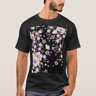Falln Cascading Pink Flowers T-Shirt