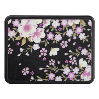 Falln Cascading Pink Flowers Trailer Hitch Cover