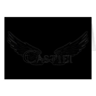 Falln Castiel With Wings Black Card