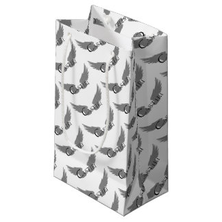 Falln Castiel With Wings Black Small Gift Bag