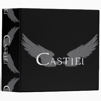 Falln Castiel With Wings White Binder