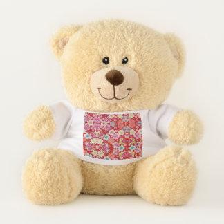 Falln Crimson Floral Chirimen Teddy Bear