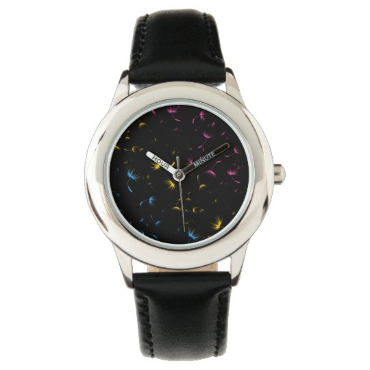 Falln Dandelion Seeds Pansexual Pride Wrist Watches
