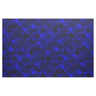 Falln Dark Blue Mermaid Scales Fabric