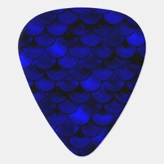 Falln Dark Blue Mermaid Scales Guitar Pick
