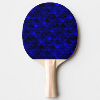 Falln Dark Blue Mermaid Scales Ping-Pong Paddle