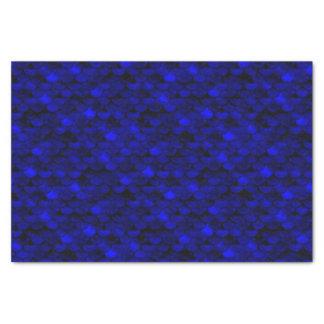 Falln Dark Blue Mermaid Scales Tissue Paper