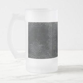 Falln Dark Tribal Frosted Glass Beer Mug