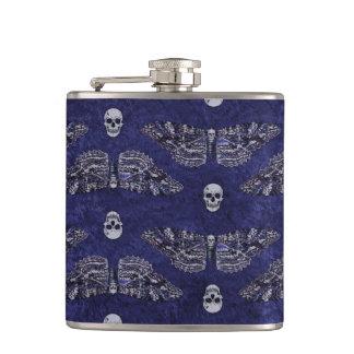 Falln Deathshead Moth and Skulls Hip Flask