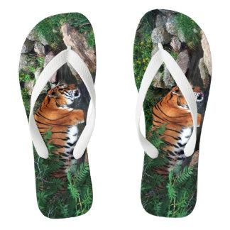 Falln Drinking Tiger Flip Flops