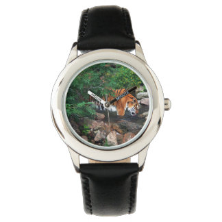 Falln Drinking Tiger Wrist Watch