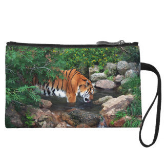 Falln Drinking Tiger Wristlet Purses