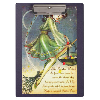Falln Easter Witch Clipboard