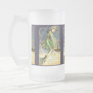 Falln Easter Witch Frosted Glass Beer Mug