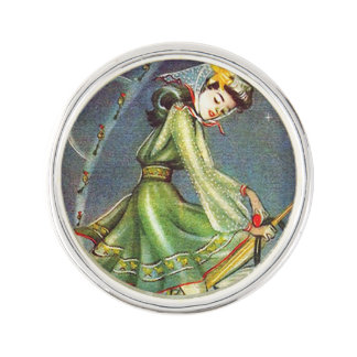 Falln Easter Witch Lapel Pin